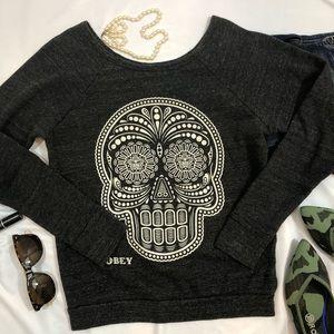 OBEY Sweatshirt Sugar Skull XS women's A33